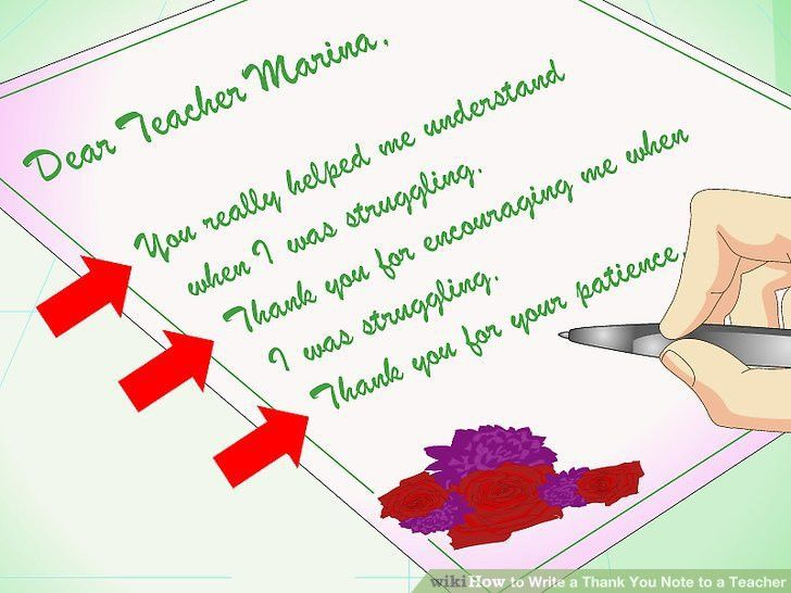 How to Write a Thank You Note to a Teacher (with Sample Notes)