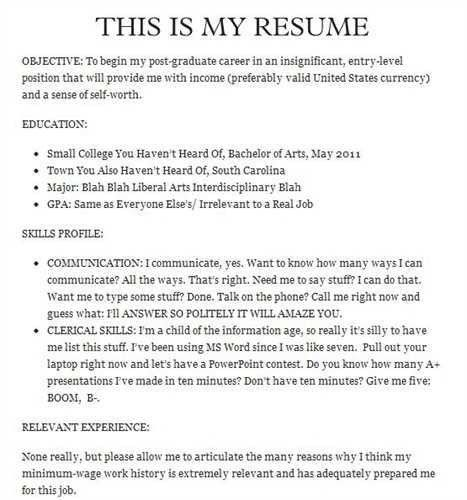funny resume 17 funniest cover letters and resumes save my