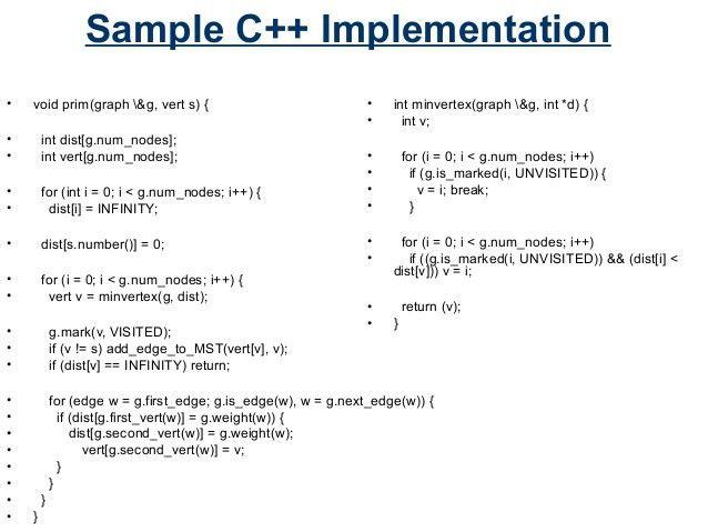 Prim's Algorithm on minimum spanning tree