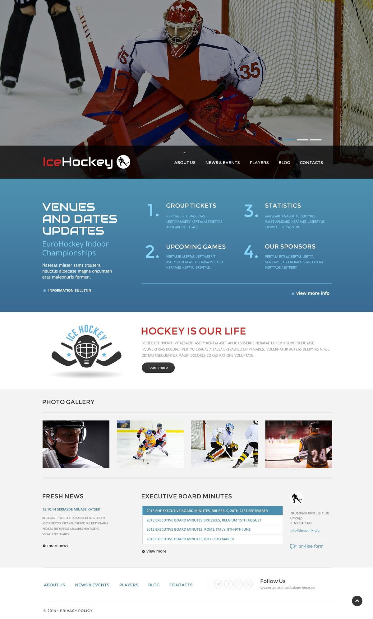 Hockey Templates | TemplateMonster