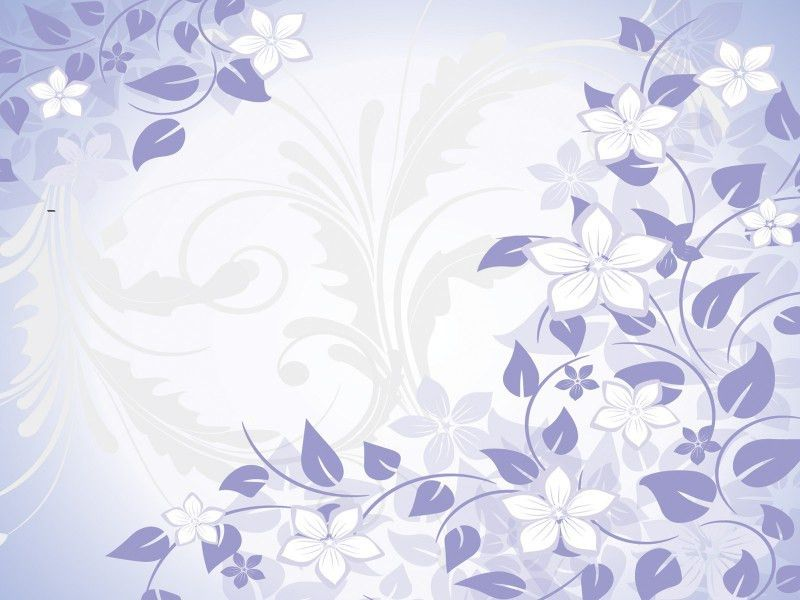 Blue flowers spring Powerpoint Templates - Blue, Flowers, Fuchsia ...