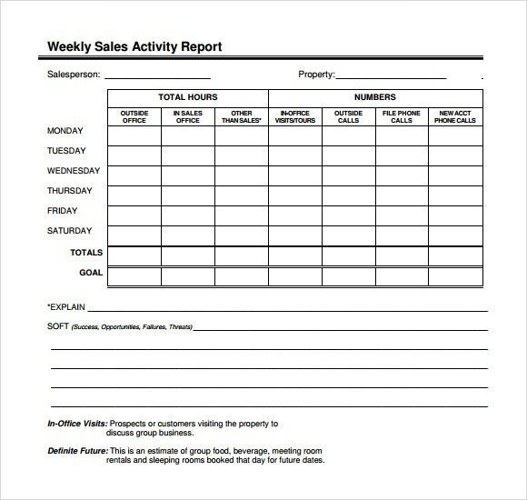weekly sales call sheet template