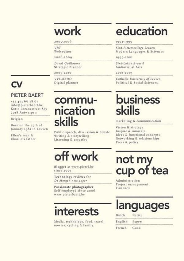 58 best Resume / CV / Curriculum - Arquitectitis images on ...
