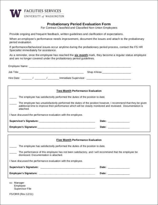Amazing Job Performance Evaluation Form Templates Photos - Best ...