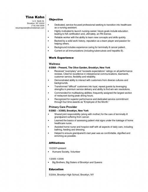 Sample Resume For Cna 11 Cna Resume Builder Choose Sample Resumes ...