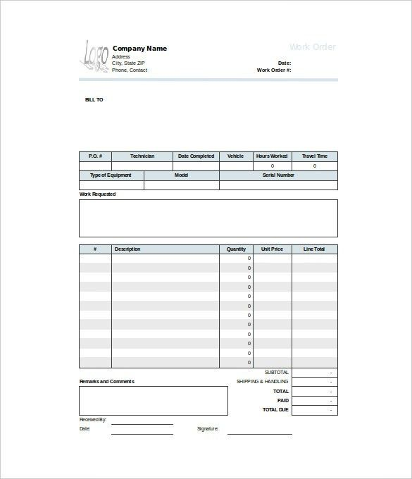 Professional Purchase Order Template Samples : vlashed