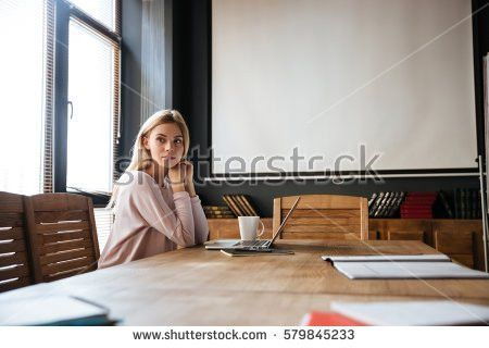 Beautiful Receptionist Front Desk Stock Photo 345160928 - Shutterstock