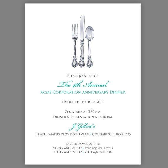 Free printable dinner invites. Perfect for your galas and ...