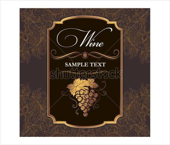 22+ Wine Label Templates – Free Sample, Example Format Download ...