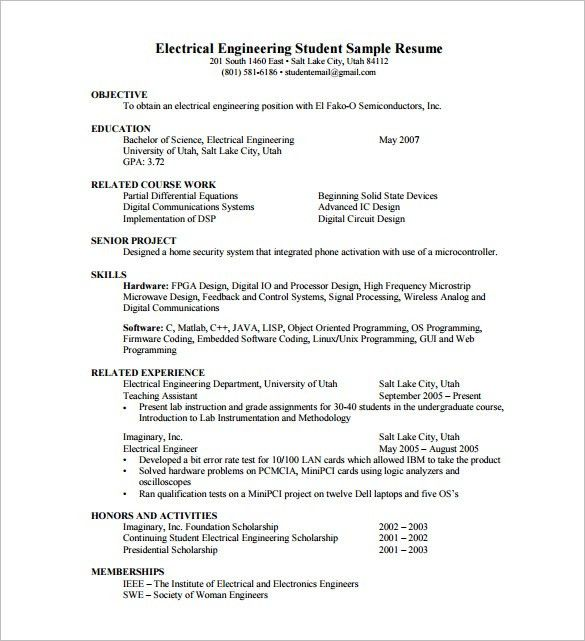 Resume Template for Fresher – 10+ Free Word, Excel, PDF Format ...