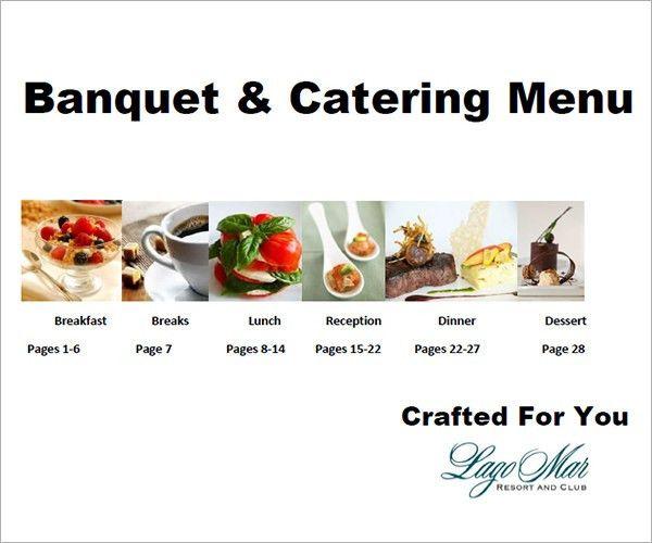 16+ Banquet Menu Templates - PSD, PDF