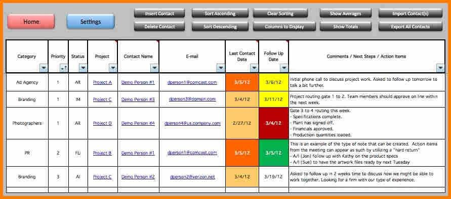 8+ excel project management template | resume reference