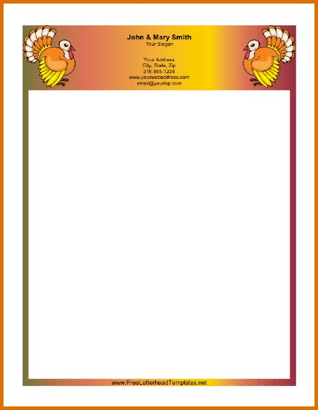 8+ free printable letterhead templatesReference Letters Words ...