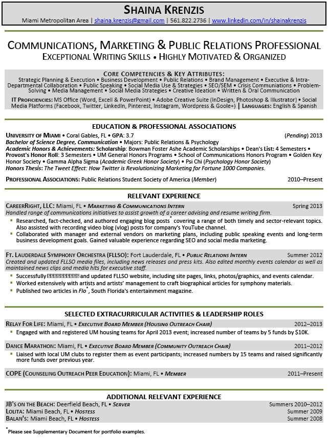 College Student Resume Examples. College Student Resume Example ...