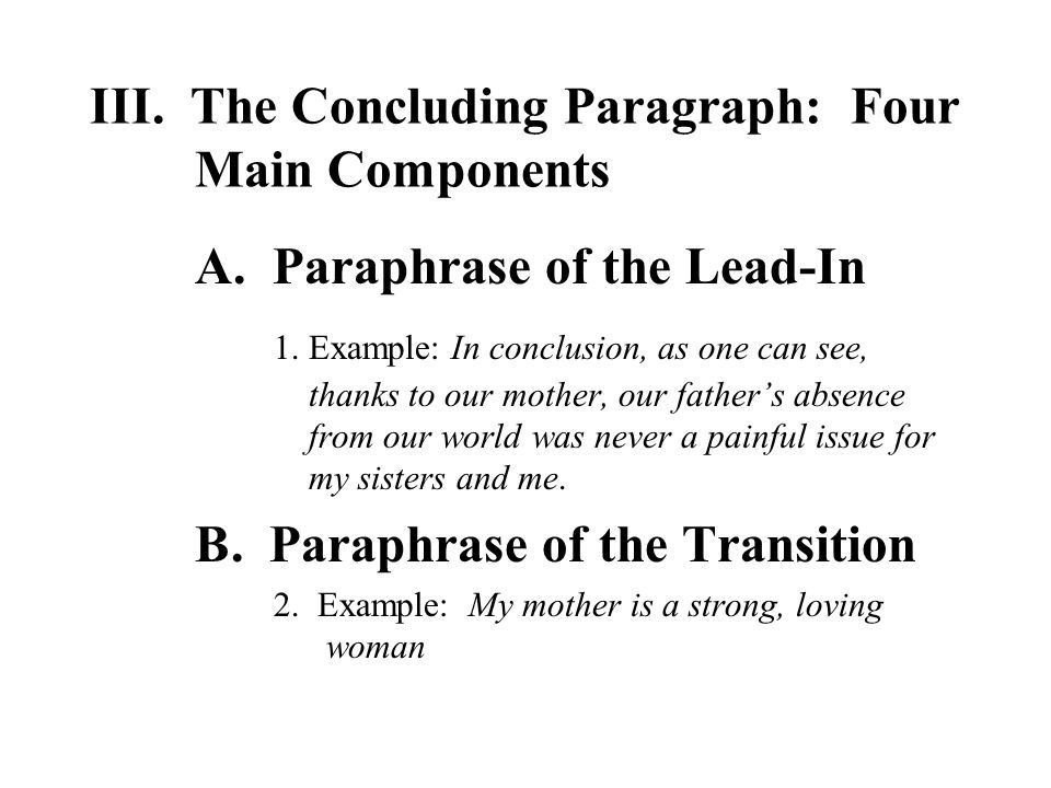 The Traditional Five – Paragraph Essay The Three Main Parts ...
