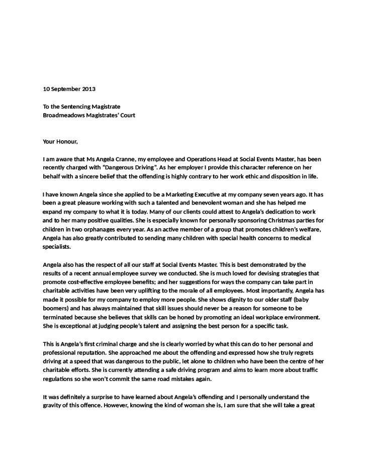 Character Reference Letter Court | custom-college-papers