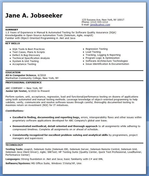 resume of car technician resume suhujosmxtl free test engineer ...
