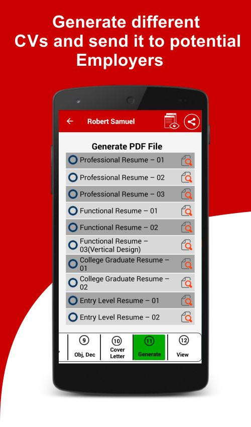 Resume Builder Free, 5 Minute CV Maker & Templates - Android Apps ...