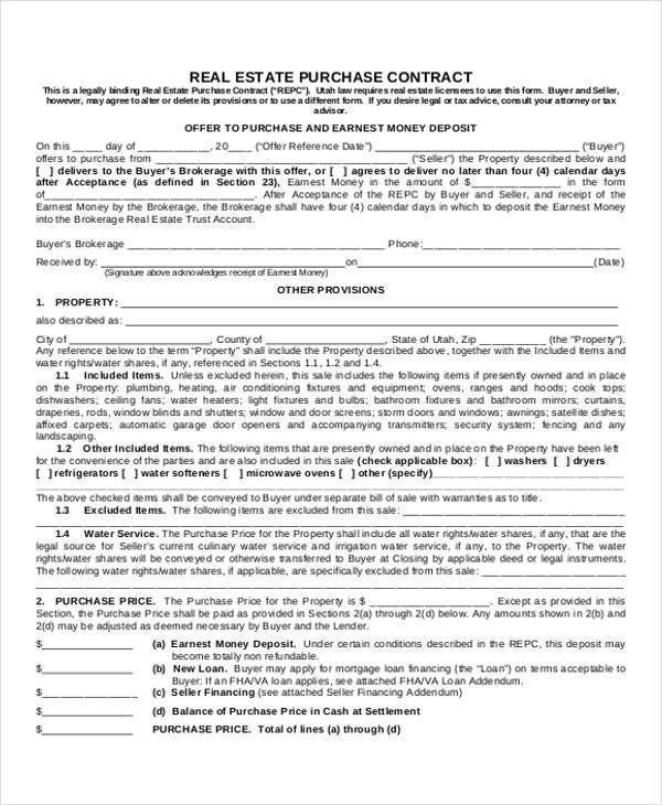 Sample House Sale Contract - 9+ Examples in Word, PDF