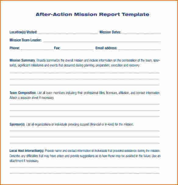 8+ After Action Report Template | Printable Receipt
