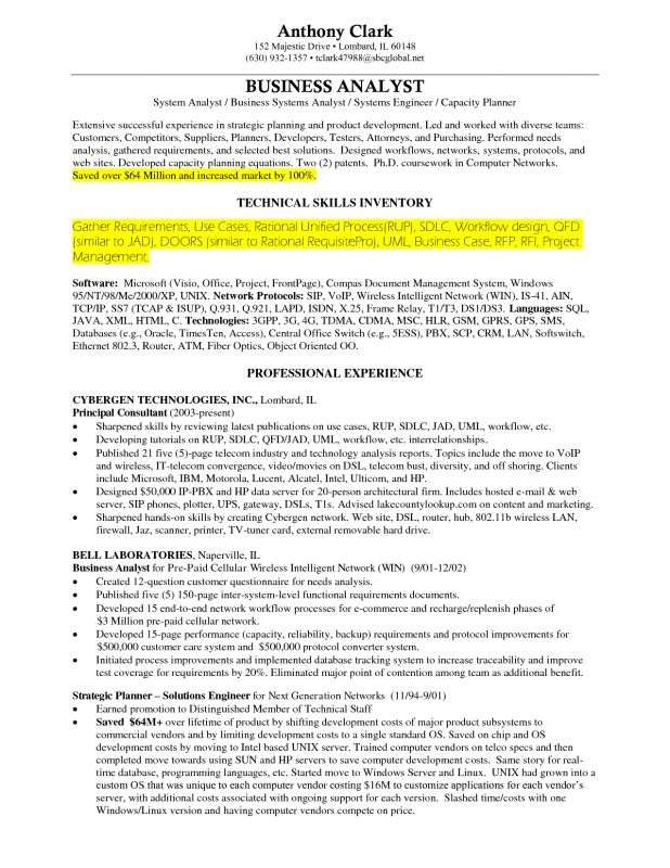 business analyst resumes samples. resume examples business ...