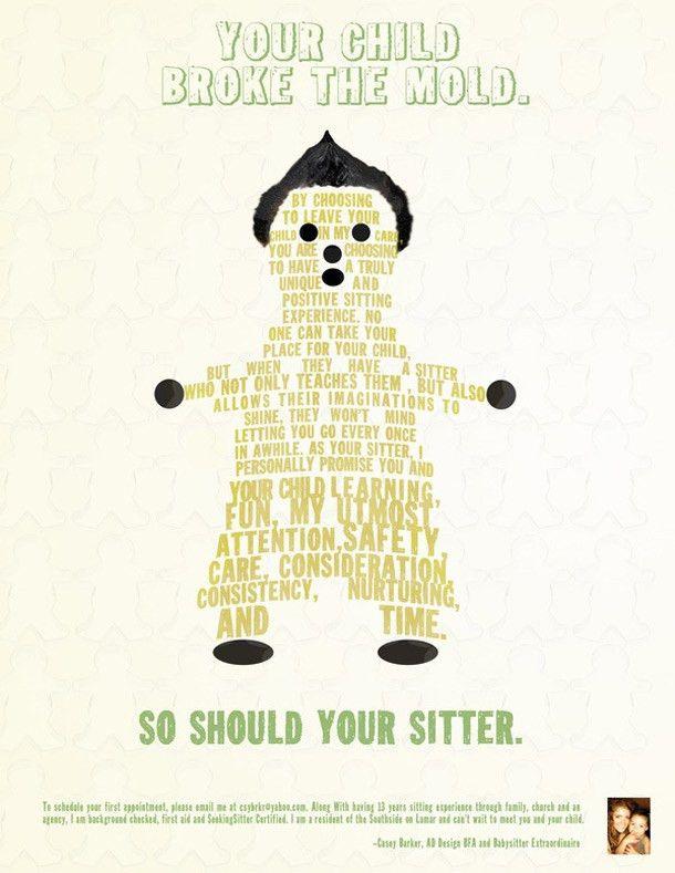 15 Cool Babysitting Flyers - Printaholic.com