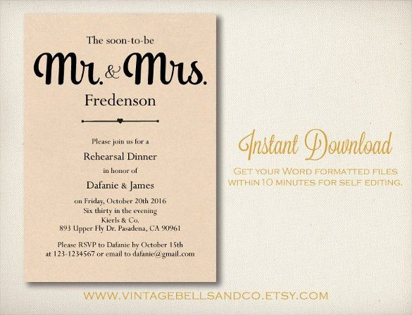Rehearsal Dinner Invitations Templates Free | cimvitation