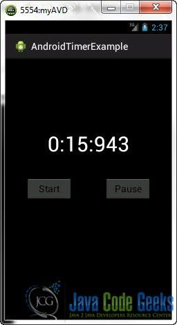 Android Timer Example