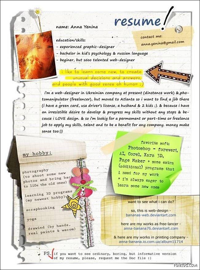 25 best Creative Portfolio Ideas images on Pinterest | Resume ...