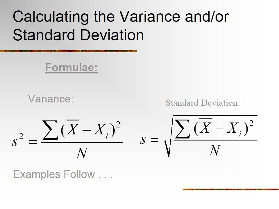 Sample Variance. 13 Mean And Variance Sampling Distributions ...