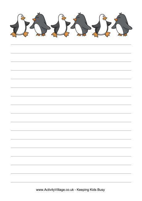 Penguins writing paper | ELA | Pinterest | Writing paper, Penguins ...