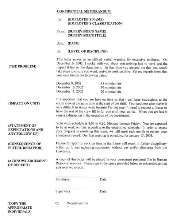 6+ Work Warning Letter Template - Free Word, PDF Format Download ...