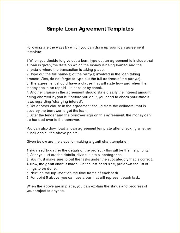 Loan Agreement Template Between Friends Australia Simple Loan ...