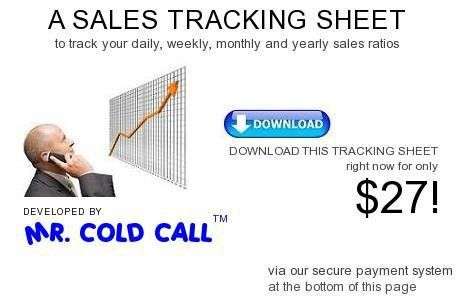 Mr. Cold Call Sales Tracking Sheet $27 - Track sales calls ...