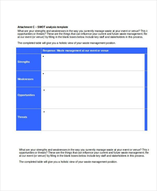 Swot Analysis Template - 12+ Free Word, PDF, PPT, PSD Documents ...