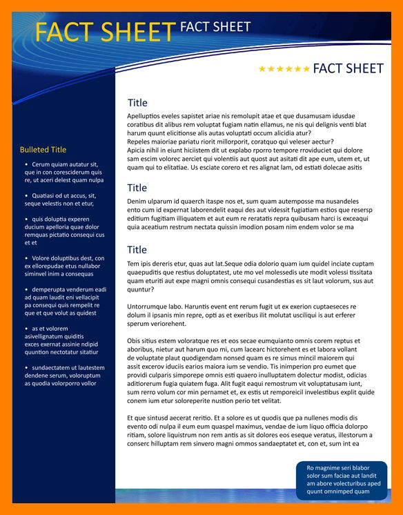9+ fact sheet template word | janitor resume