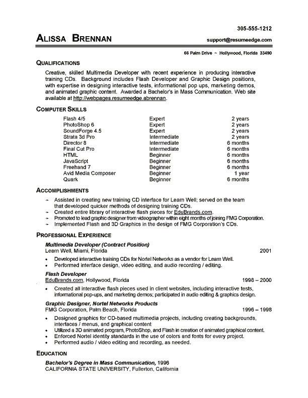 resume skills sample resume template for bartender no experience ...