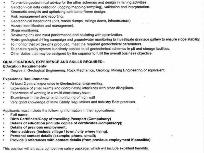 geotechnical engineer cover letter - Fieldstation.co