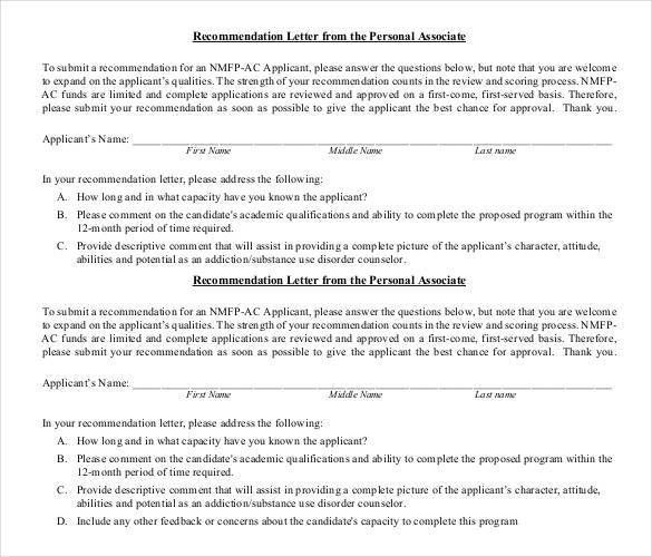 Personal Letter of Recommendation - 14+ Free Word, Excel, PDF ...