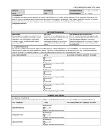 Employee Evaluation Sample Forms - 9+ Free Documents in Word, PDF