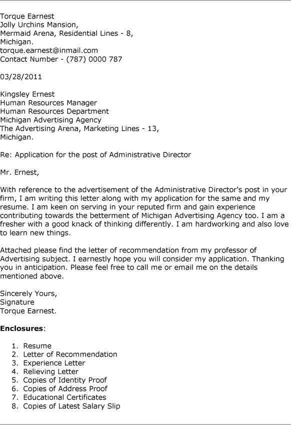 Purpose Cover Letter Resume Andrian James Blog
