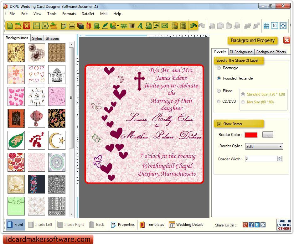 Create Invitation Card Free Download - Festival-tech.Com