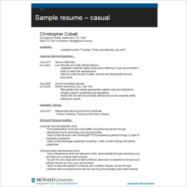 Resume Format Templates - Free Word, PDF Documents | Creative Template