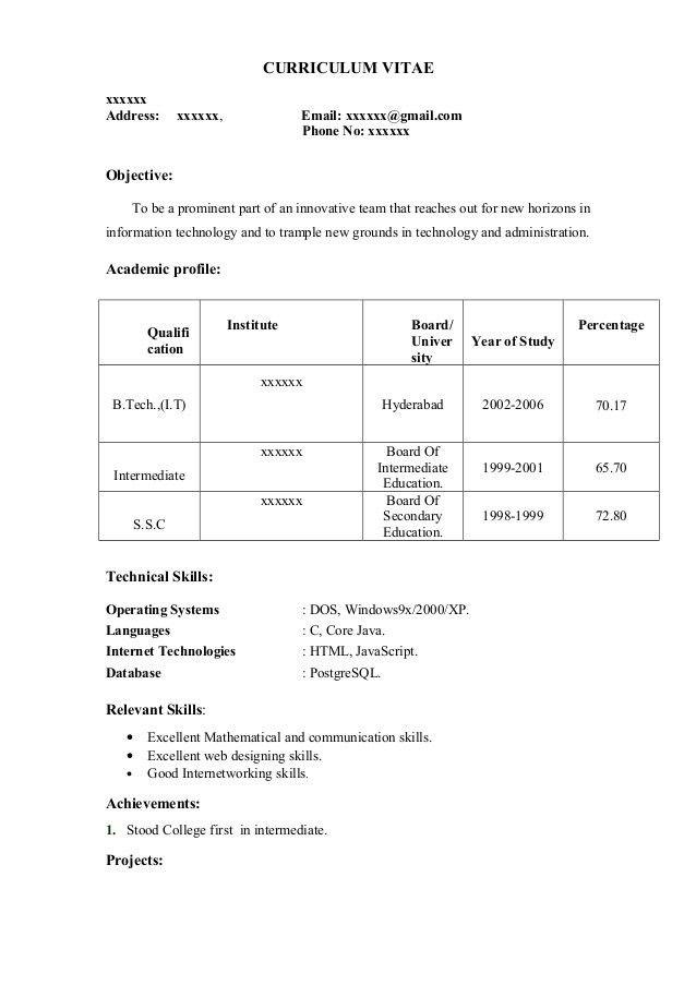 Fresher resume-sample12 by Babasab Patil