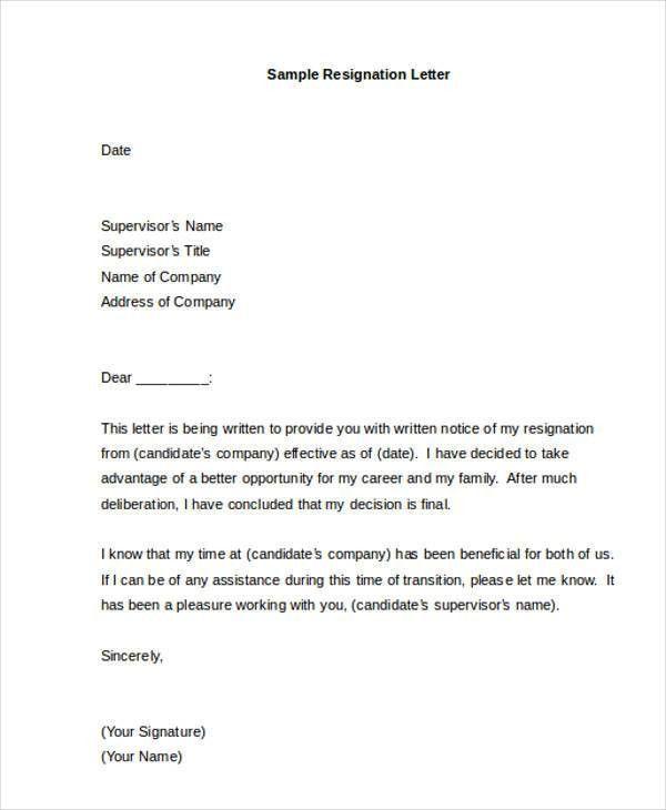 35+ Resignation Letter Examples | Free & Premium Templates