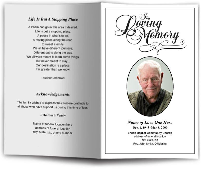 Funeral Programs and Memorials | In Loving Memory