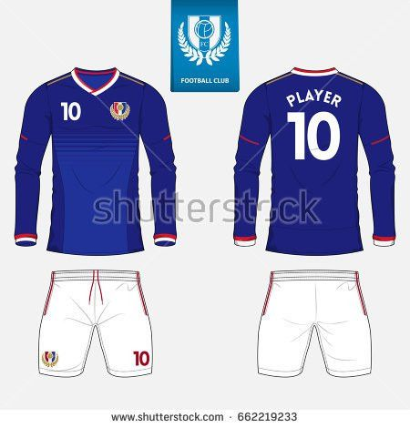 Set Soccer Kit Football Jersey Template Stock Vector 631117988 ...