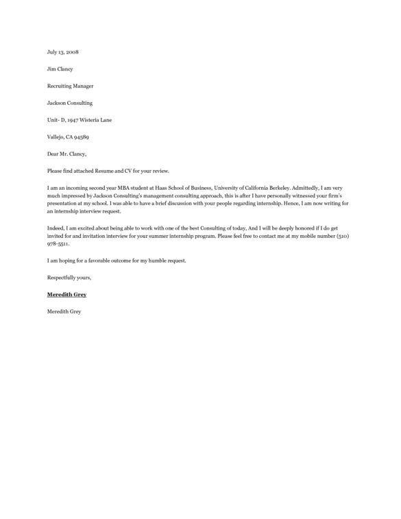 27 Executive Cover Letter For Business Internship For Inspire You ...