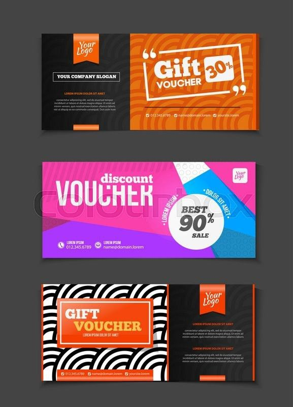 Gift or discount voucher template with modern design, special ...