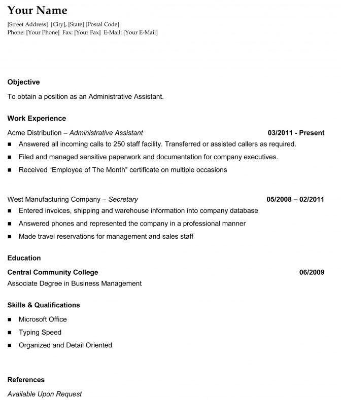 Types Of Resume Formats   Jobs.billybullock.us